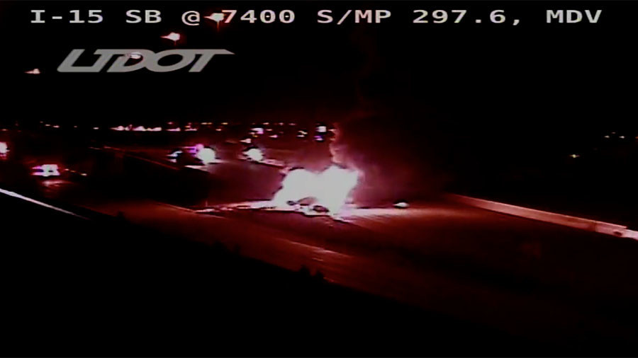 Huge tanker explosion forces highway shutdown in Utah