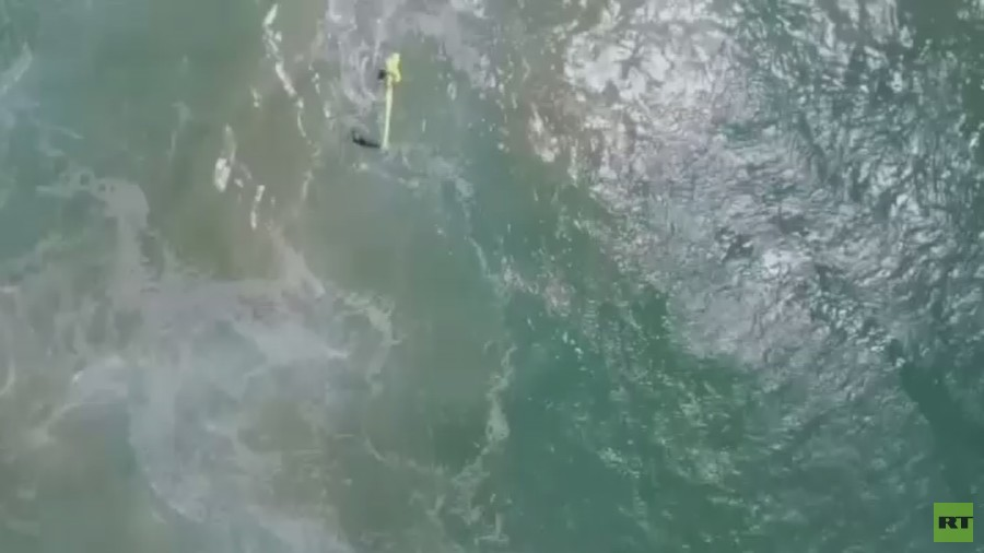 Drone rescues teenagers from drowning in 'world first' (VIDEO)