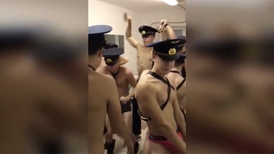 Getting behind the boys: Sexy cadet video recreated by students across Russia to show support