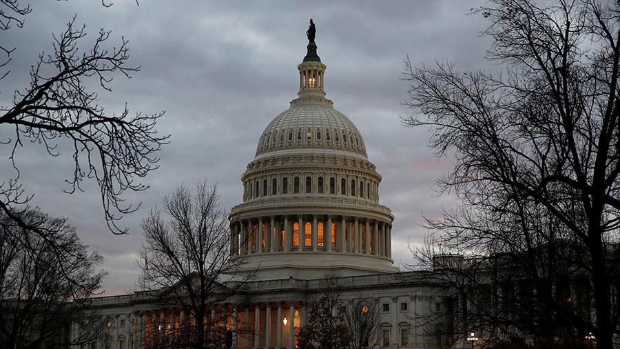 Senate Democrats huddle after 3 break from party to avert govt shutdown