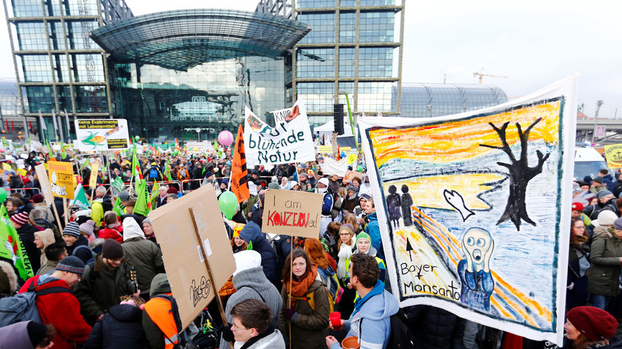 'We've had enough!' Protesters demand new agricultural policies in Germany (VIDEO)