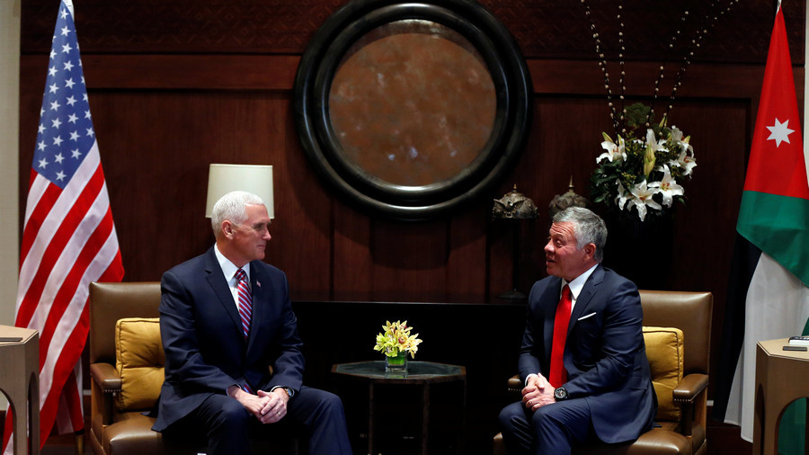 'We agreed to disagree': Pence & King Abdullah clash over US recognition of Jerusalem