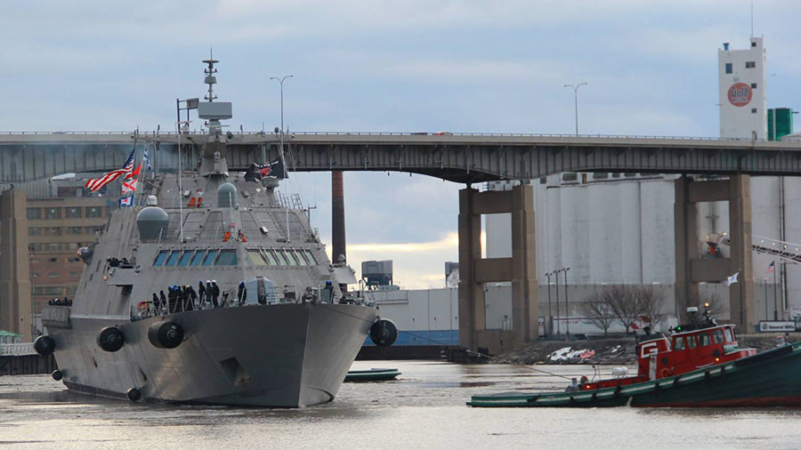 Winter Weather Traps Navy Ship in Montreal
