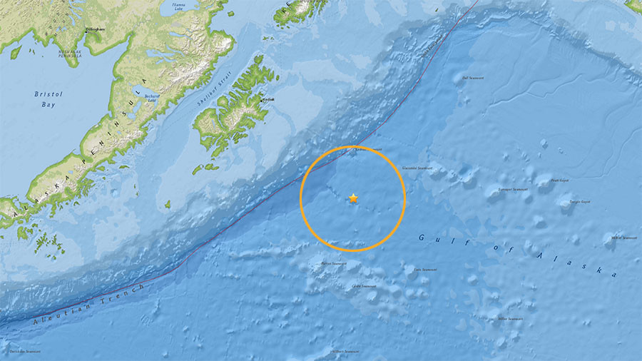 Magnitude 8.2 quake strikes off Alaska