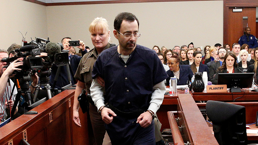 'I just signed your death warrant': US Olympic doctor Nassar sentenced to 175yrs in prison