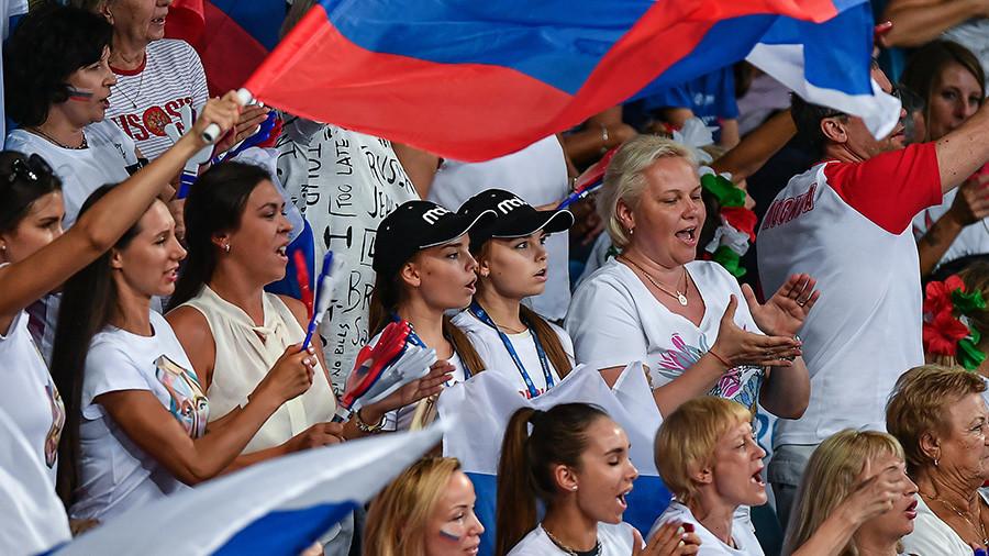 IOC says Russian fan flag-waving 'cannot be prohibited' at PyeongChang