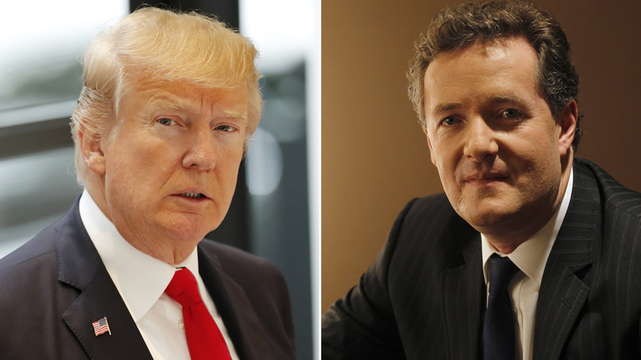 Egos collide as Trump gives a 'world exclusive interview' to his apprentice Piers Morgan