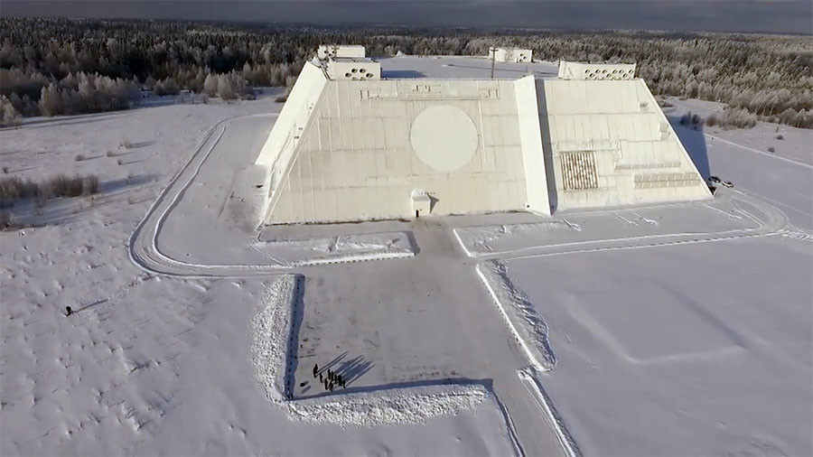 Breathtaking scale of Moscow radar station revealed in drone footage (VIDEO)