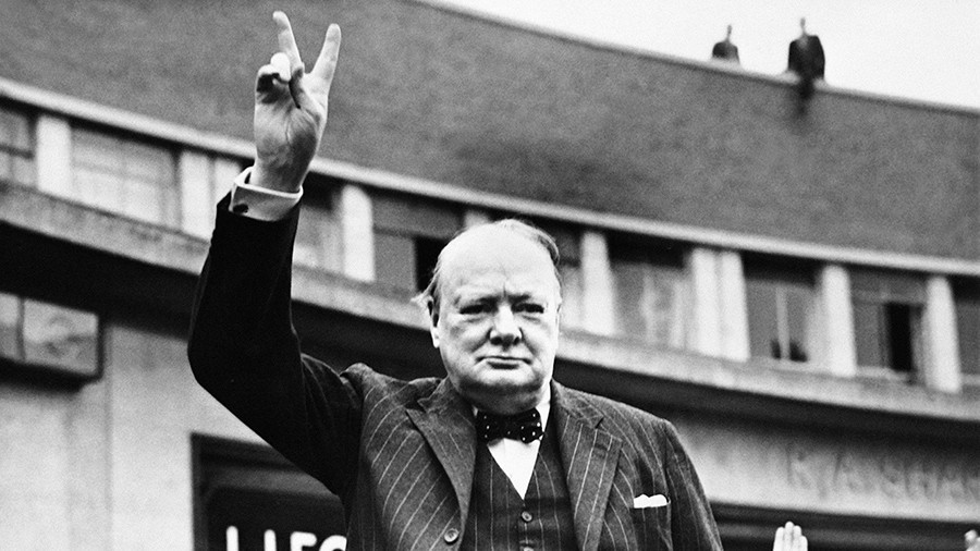 Activists storm 'racist' Winston Churchill-themed cafe