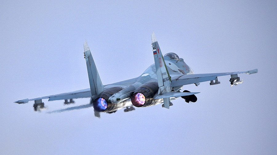 Russian Flanker jet forces US spy plane to change course over Black Sea in 'safe' intercept – MoD