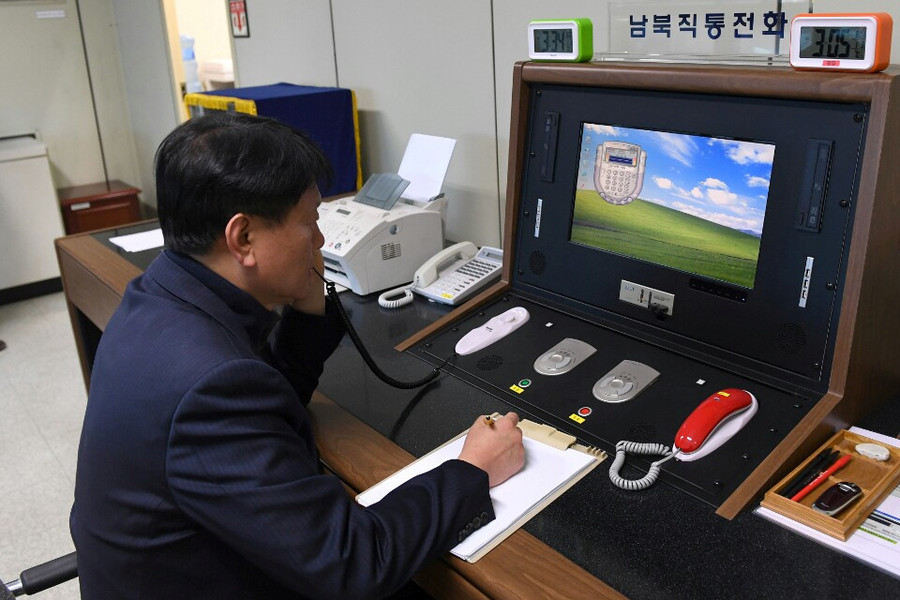 1st contact in nearly 2 years: North Korea calls South via cross-border hotline