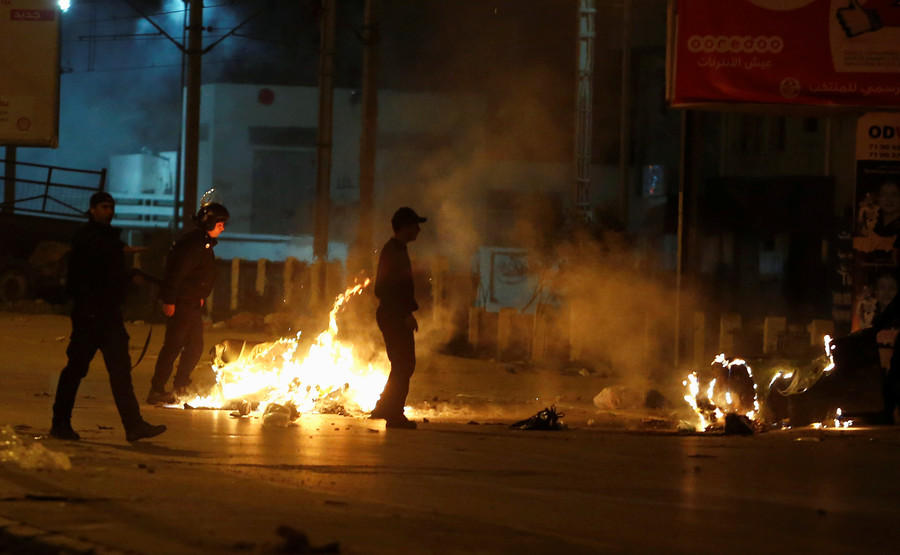 Tunisia arrests 237 after clashes and protests