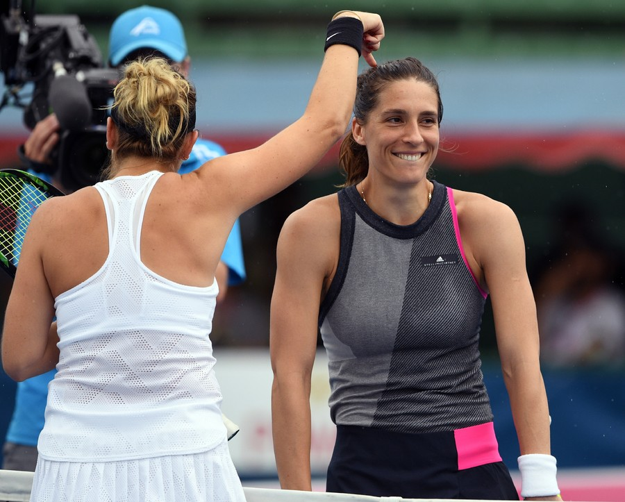 Tennis star Petkovic drags official onto court for mid-match dance off (VIDEO)