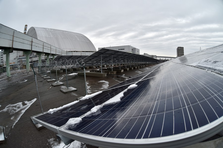 Chernobyl disaster site repurposed for solar energy (PHOTOS)