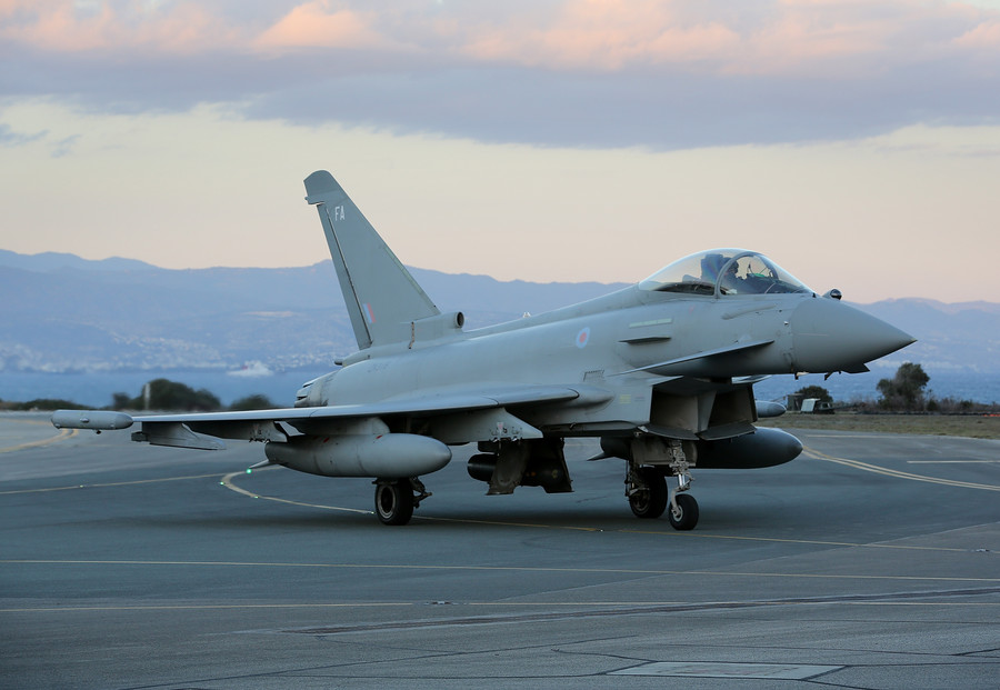 UK scrambles 2 RAF Typhoon fighter jets to intercept Russian planes