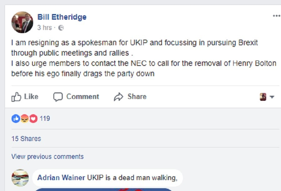 UKIP members fought on Facebook