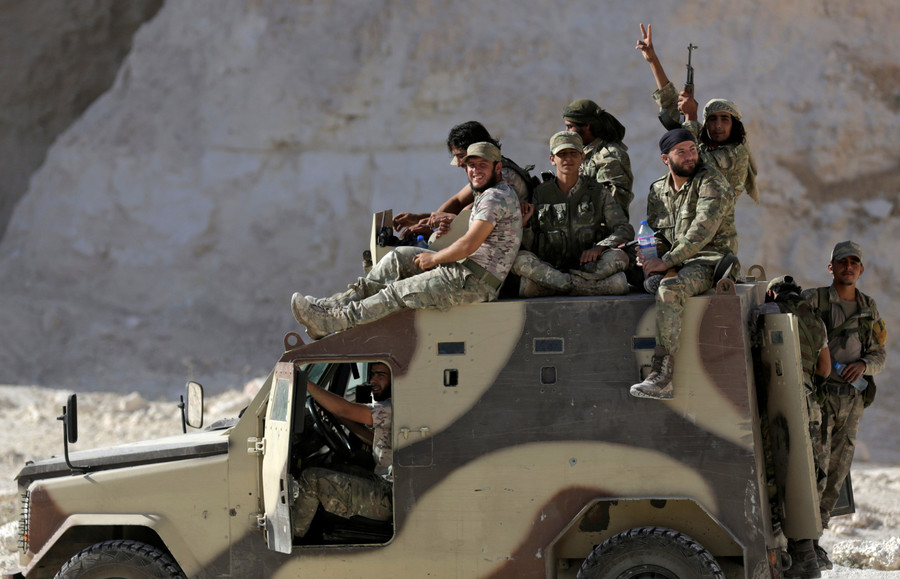 Syrian rebels urge US to 'turn words into action' & resume military aid