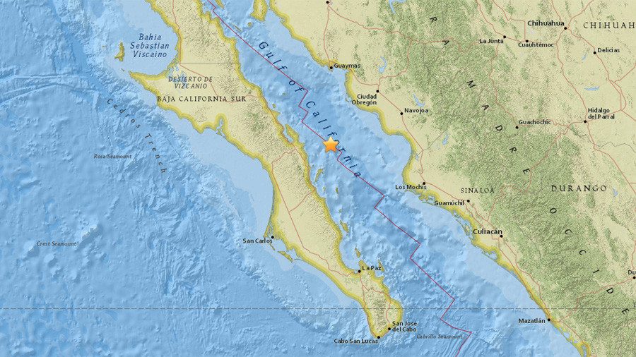 6.3 quake strikes Gulf of California near Mexico