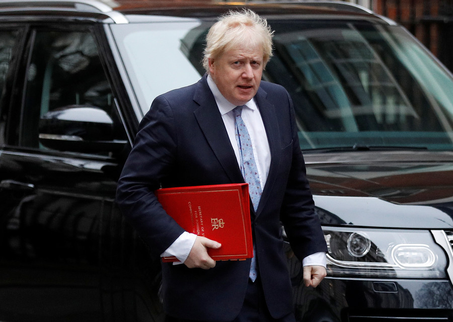 Johnson attacks 'puerile' protesters over bid to block Trump's UK visit