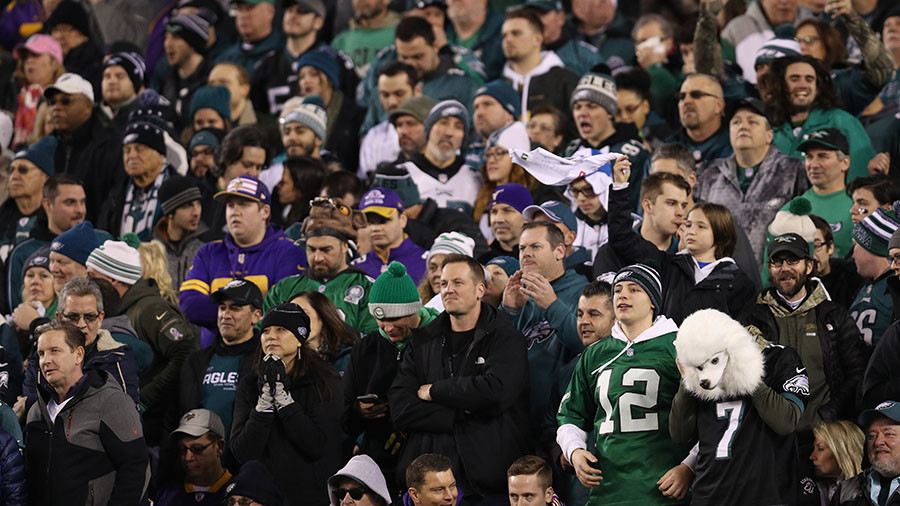 NFL: Philadelphia Eagles fans go wild after team secures Super Bowl spot