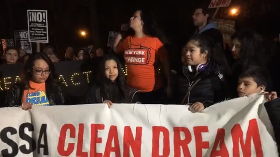 'Dreamers' protest outside Schumer's home & office over DACA