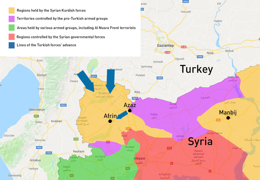 Operation Olive Branch\': Key points of Turkish military campaign ...