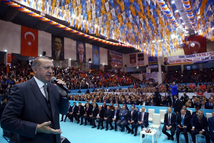 Erdogan speaks at a party congress in Amasya on January 28, 2018. / www.tccb.gov.tr