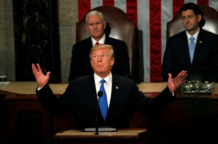 All rise & applaud! How Trump's State of the Union was reminiscent of Soviet-style conformity