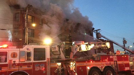 Blaze rips through building in the Bronx