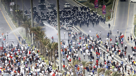 Protests in Bahrain, 2011, footage of which are currently being shared on social media as though of the 2017 Iran protests. © Hamad I Mohammed