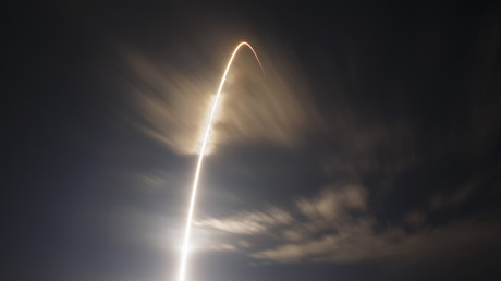 Falcon 9 rocket  lifts off from the Cape Canaveral Air Force Station in Florida, 2015