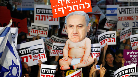 'Crime minister' Netanyahu seems unmoved by 6 weeks of protests