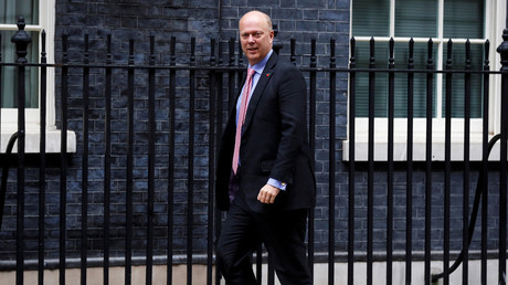 Chris Grayling, Britain's Secretary of State for Transport arrives in Downing Street, in London, October 31, 2017. © Peter Nicholls