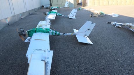 Drones hijacked and landed by Russian troops in Syria on Jan 6, 2018 © Russian Defence Ministry