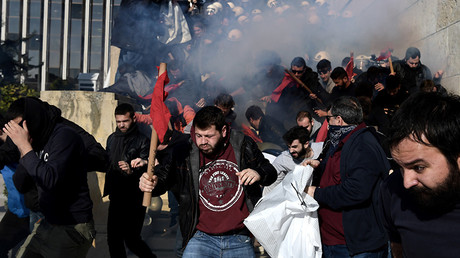Tear gas in Athens as thousands protest against new reforms