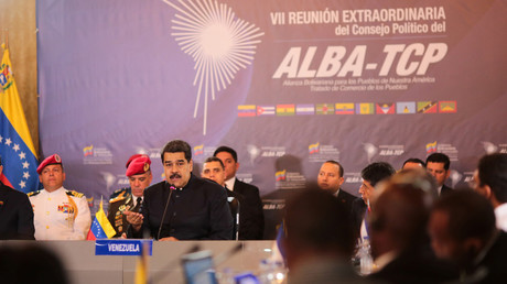 Nicolas Maduro speaks during a meeting with representatives of ALBA-TCP alliance on January 12, 2018 © Miraflores Palace