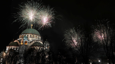 Belgrade marks Orthodox New Year with fireworks display