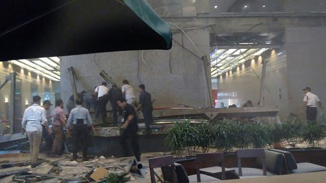 Floor collapses in Jakarta Stock Exchange leaving dozens injured