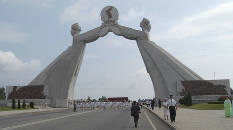 FILE PHOTO. The Arch of Reunification in the city of Pyongyang, North Korea. © Yuri Maltsev
