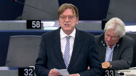 Guy Verhofstadt asks if EU official put something in 'disorientated' Nigel Farage's tea