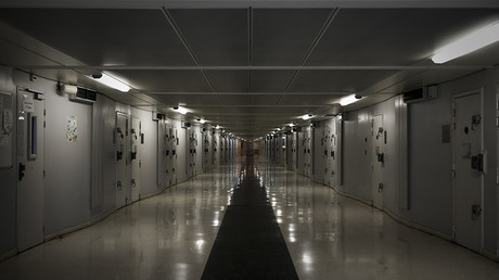 FILE PHOTO: A corridor is pictured at the Fleury-Merogis prison © Philippe Lopez