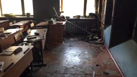 Video shows police arresting teen behind ax & arson havoc in Russian school