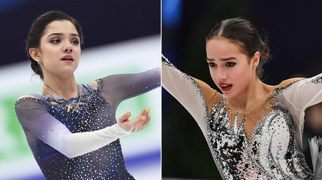 Pain, tears & friendship: Behind-the-scenes look as Medvedeva & Zagitova bid for gold (VIDEO)