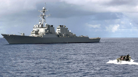 FILE PHOTO: Arleigh Burke-class guided missile destroyer USS Hopper © John L. Beeman/U.S. Navy photo/