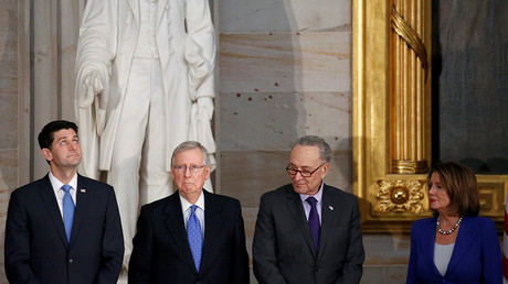 Speaker of the House Paul Ryan, Senate Majority Leader Mitch McConnell, Senate Minority Leader Chuck Schumer and House Minority Leader Nancy Pelosi © Joshua Roberts