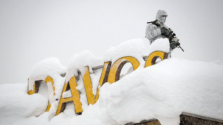 Can you dig it? Davos 'Masters of the Universe' bogged down under avalanche alert