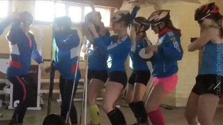 IDF vs Russian Biathlonist 'Satisfaction' dance-off!