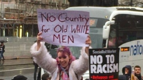 UKIP politician reports hate crime over 'No country for old white men' placard