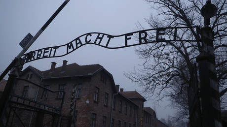 "The ""Arbeit Macht Frei"" gate at the former Nazi German concentration camp Auschwitz, in Oswiecim, Poland, January 27, 2018. © Kacper Pempel"
