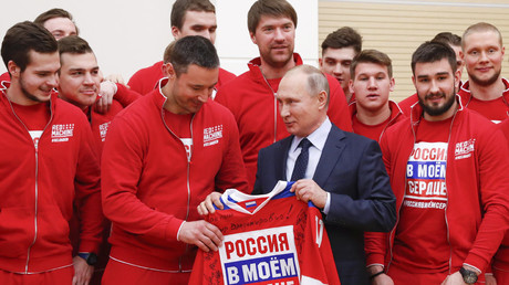 Putin calls for celebrations over CAS Olympic decision to be reined in